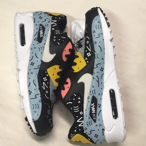 pretty nice 0caee 53a15 Nike Shoes - Nike Air Max 90 Premium Ocean Bliss Sail Scribbles